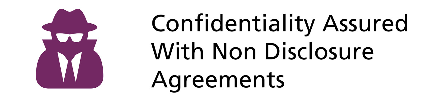 Confidentiality assured with NDA Agreements
